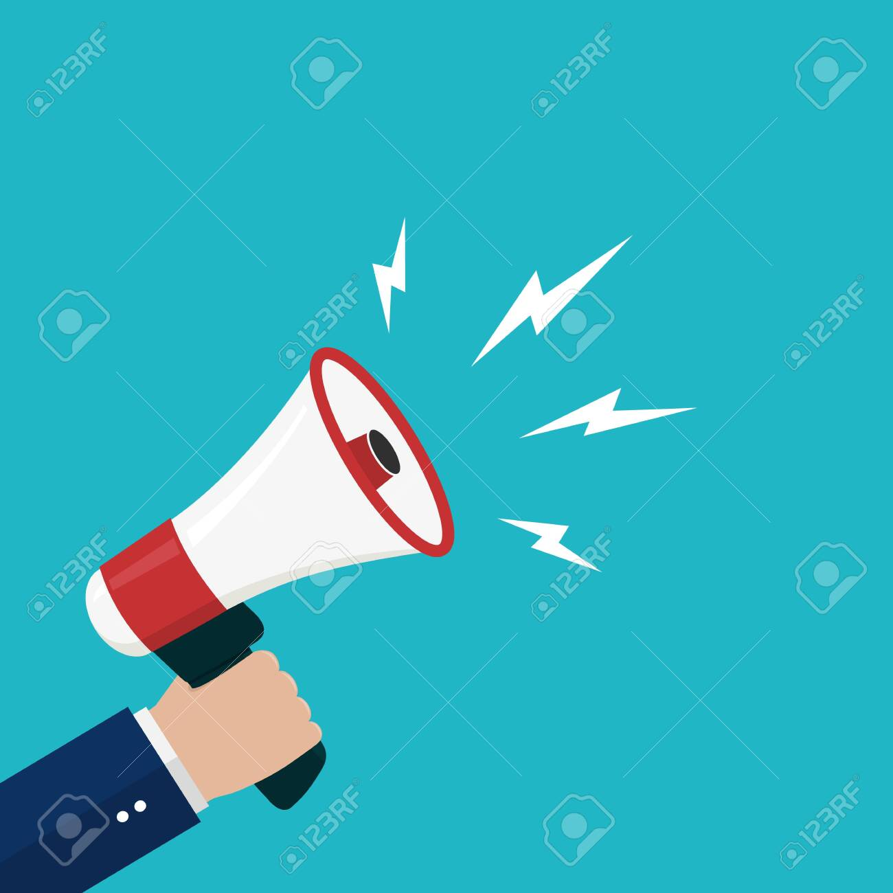 cartoon hand holding loudspeaker loud voice horn megaphone flat royalty free cliparts vectors and stock illustration image 133066873 cartoon hand holding loudspeaker loud voice horn megaphone flat
