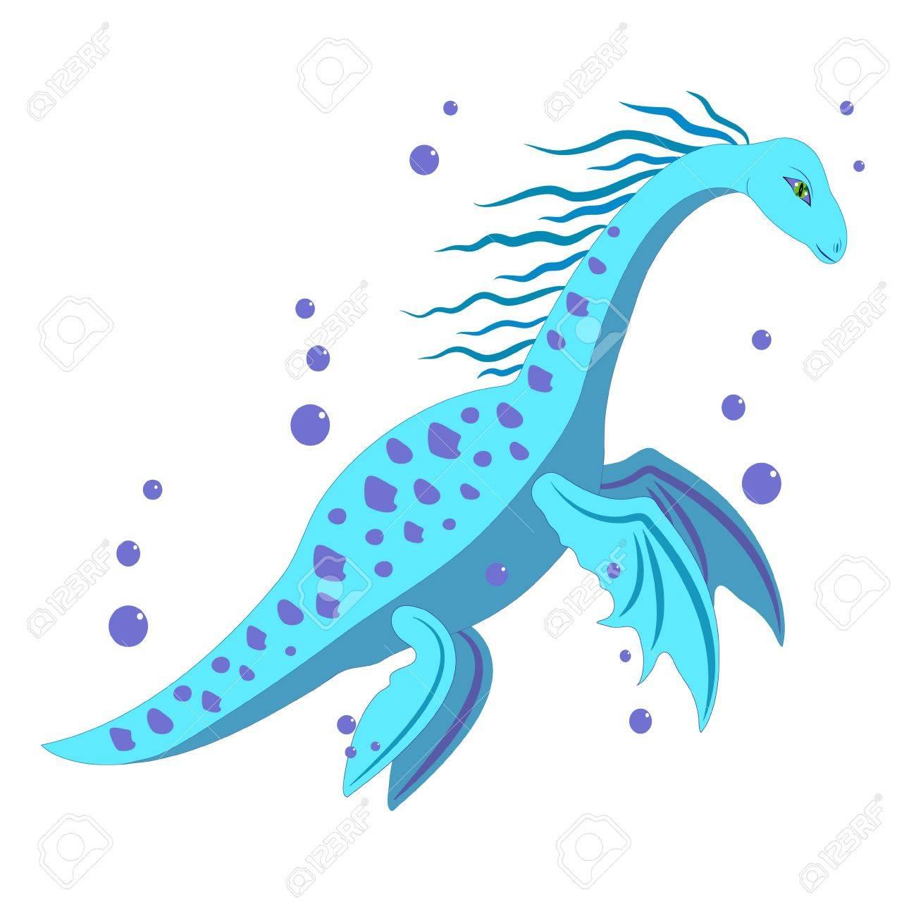 water dinosaur. Stock Vector - 10594747