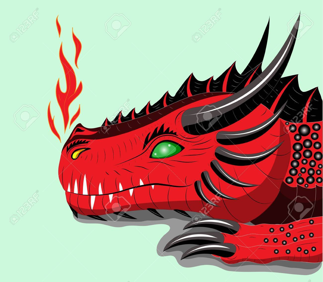 Red dragon Stock Vector - 12084322