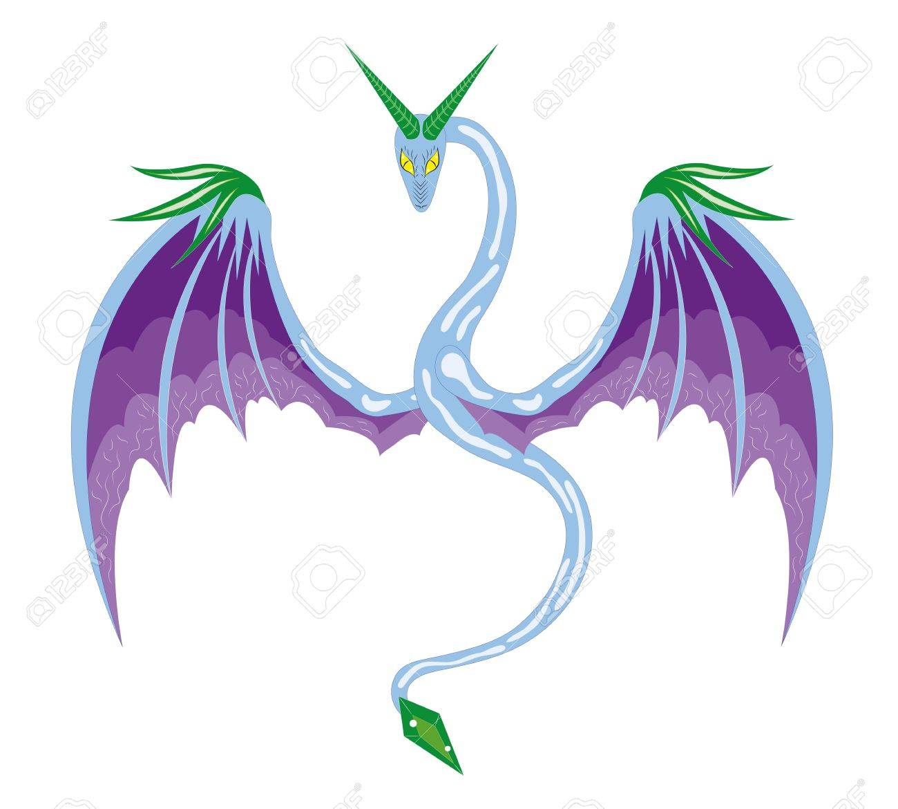 Winter winged snake Stock Vector - 16873436
