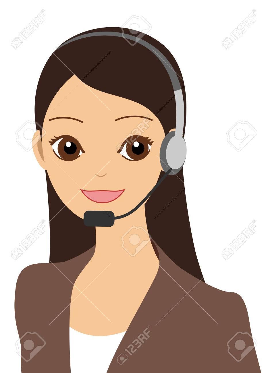 An operator Stock Vector - 8173775