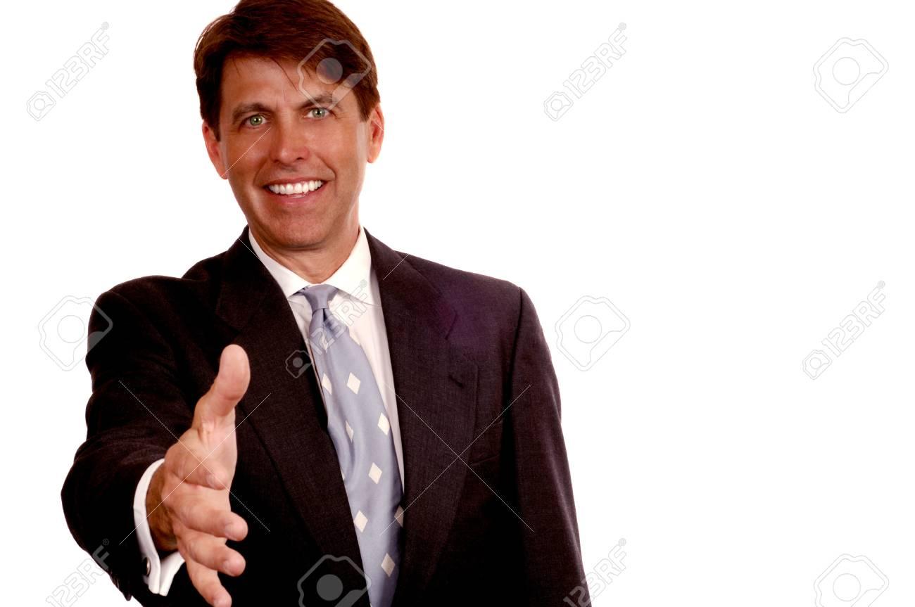 Friendly Business Man Stock Photo - 10948801