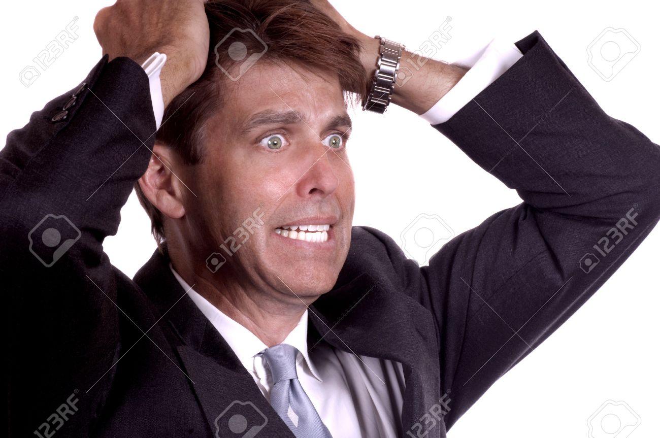 Distraught Businessman Stock Photo - 10948472