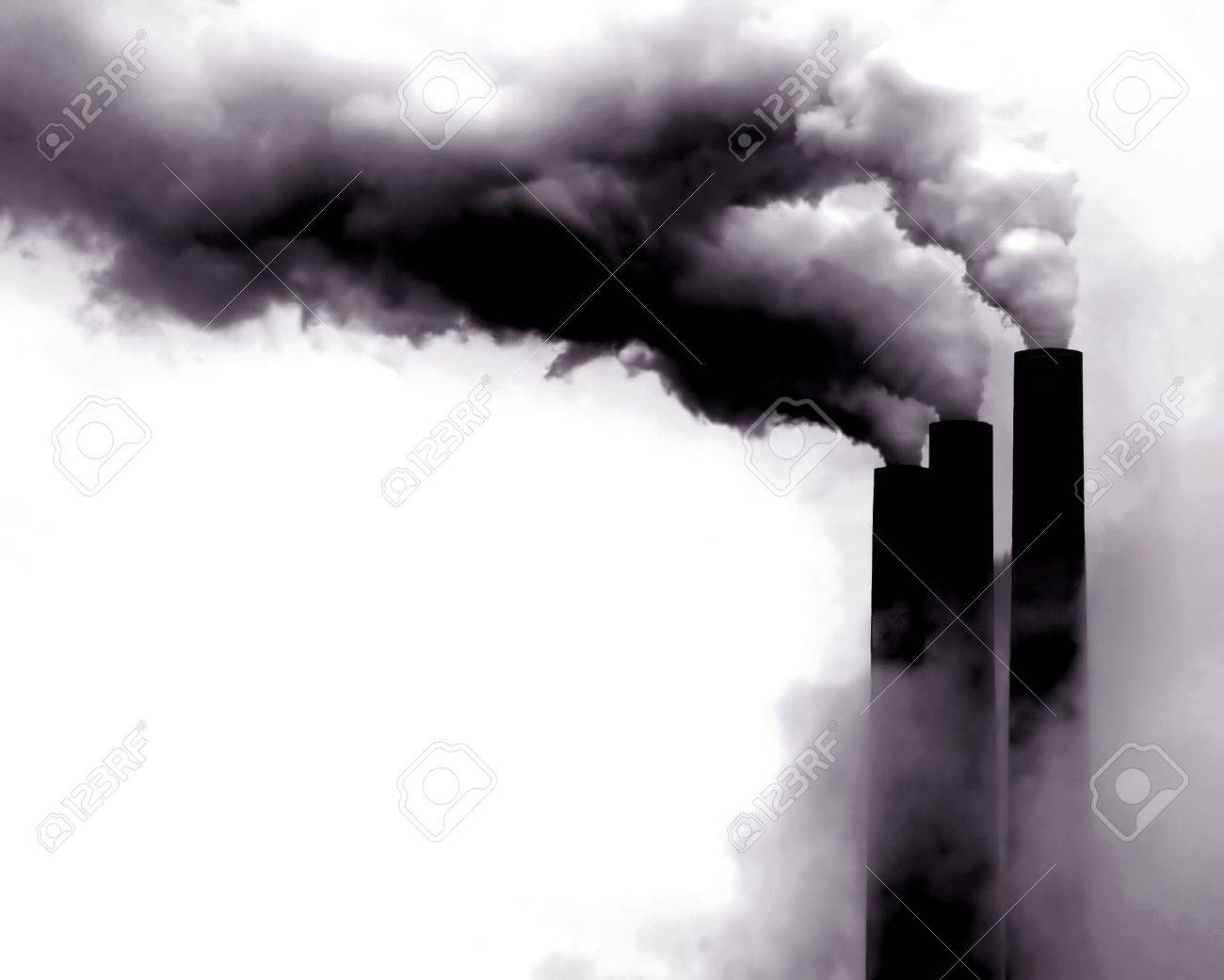 Scary Image of Power Plant emissions in America Stock Photo - 10999001