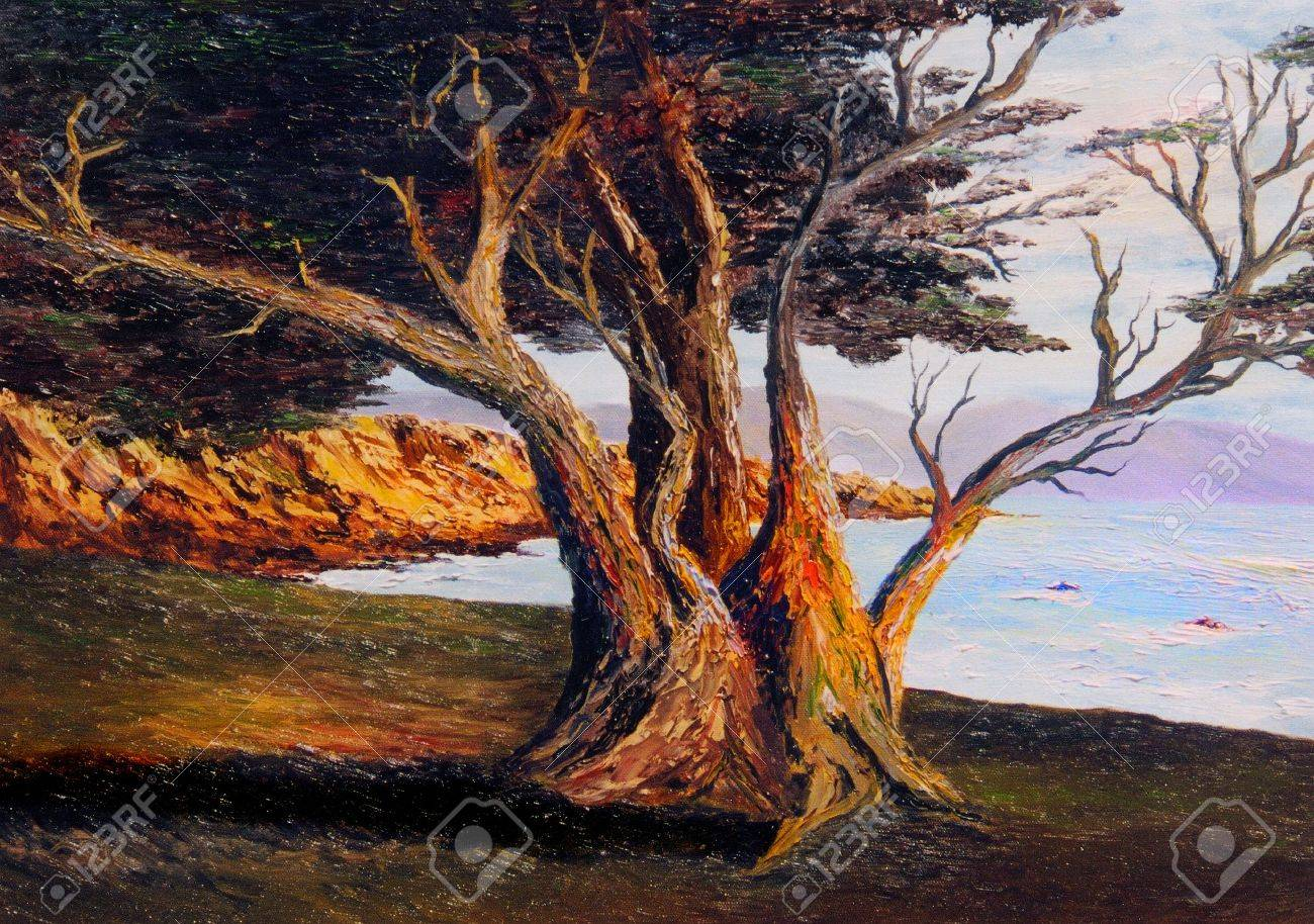 very Nice small scale Oil painting on Canvas Stock Photo - 10977098