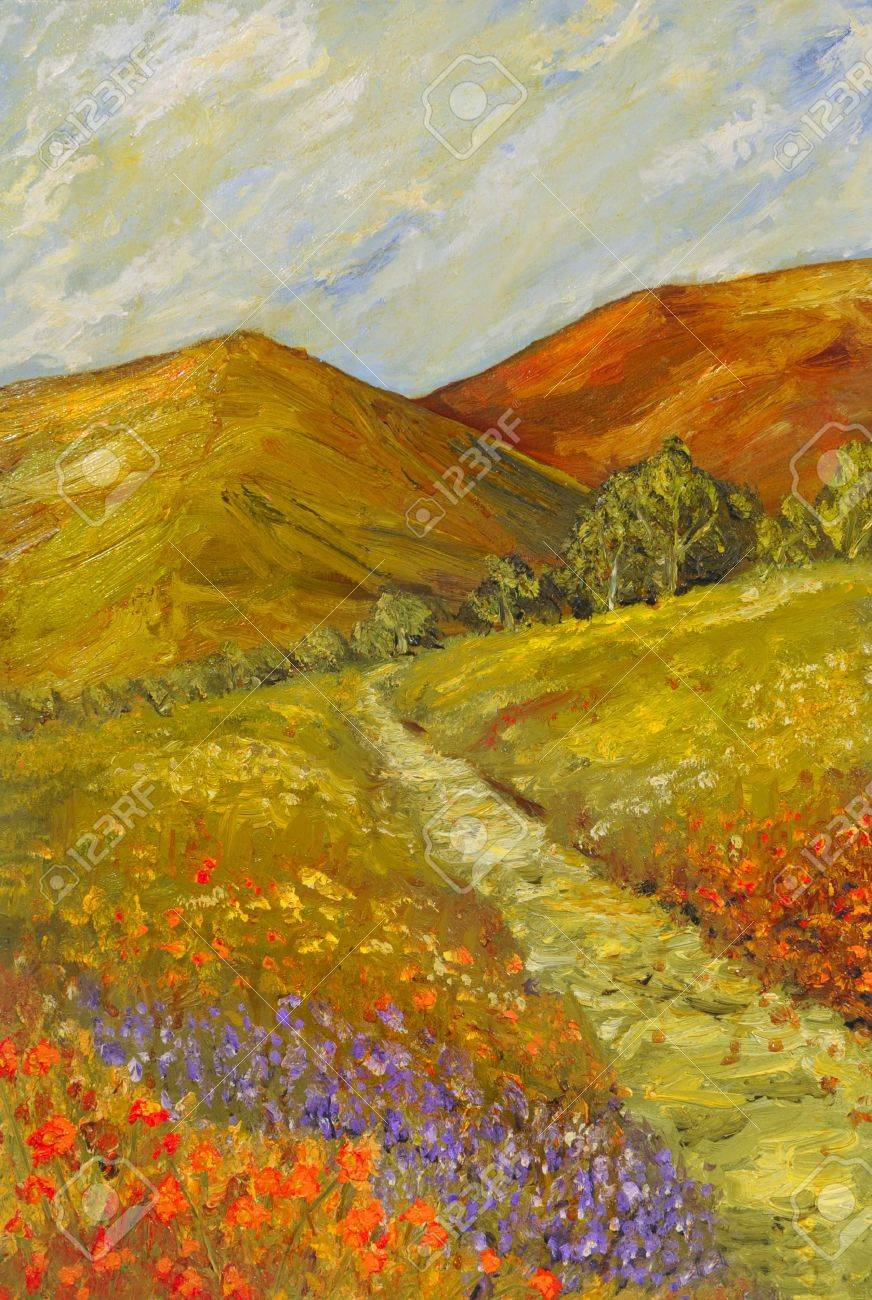 very nice original Oil painting On Canvas Stock Photo - 10977064