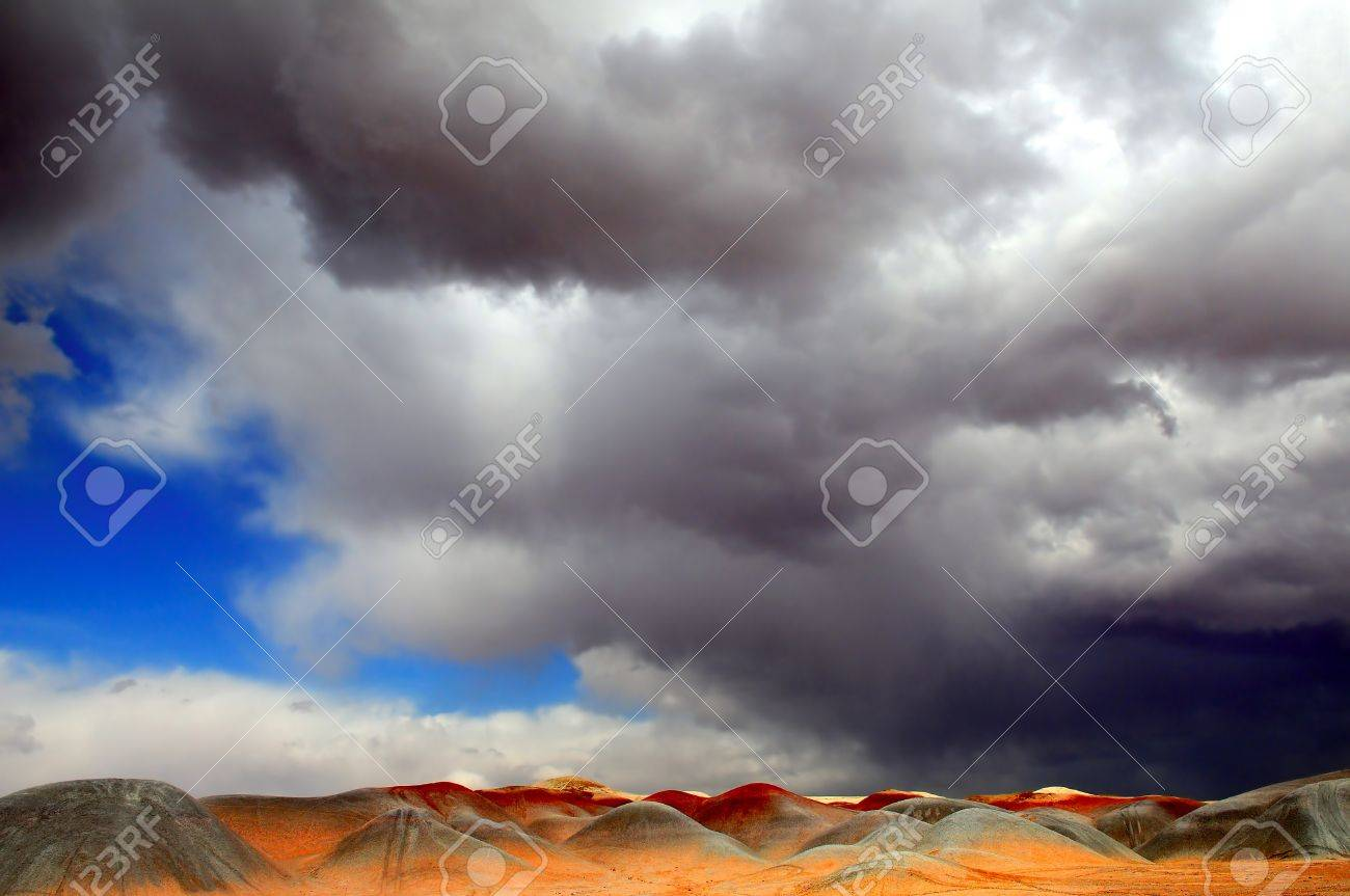 Amazing Image of The Mysterious Sand Dunes Of Monument Valley Stock Photo - 11088957