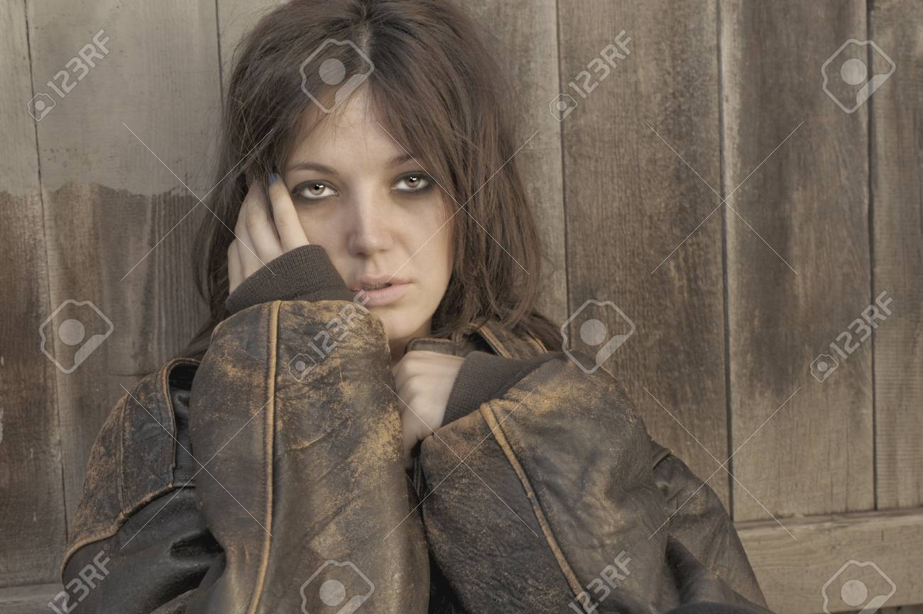 Nice Image of a Beautiful Woman and fence Stock Photo - 11089045