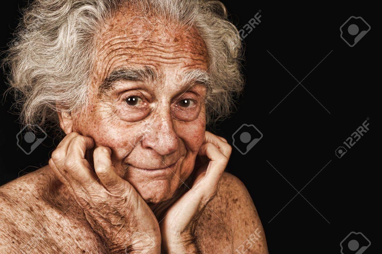 Portrait D'une Très Belle Vue Sur Le Vieil Homme Noir Banque D ...