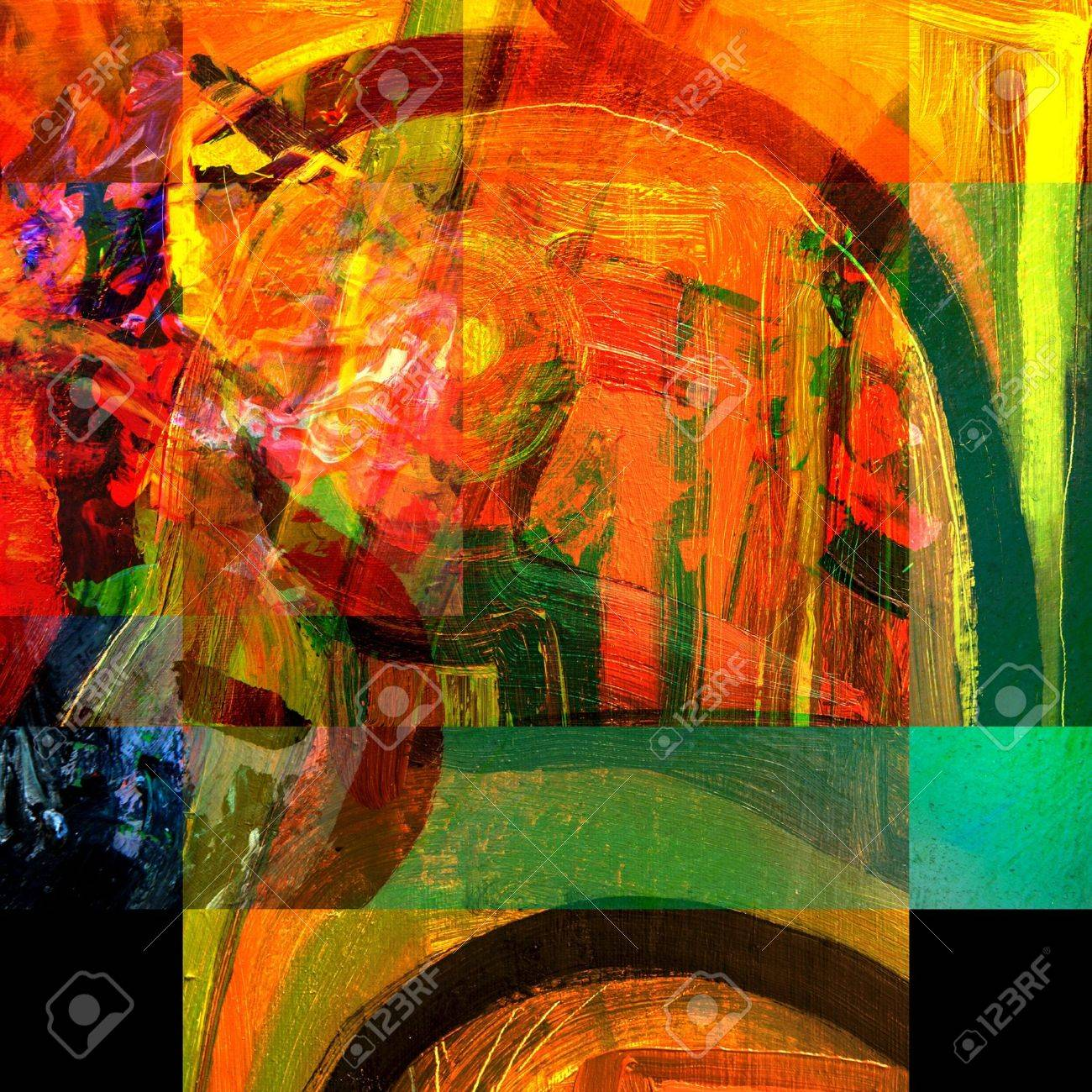 very nice Image of an original Large scale Abstract Painting In Canvas Stock Photo - 11089571
