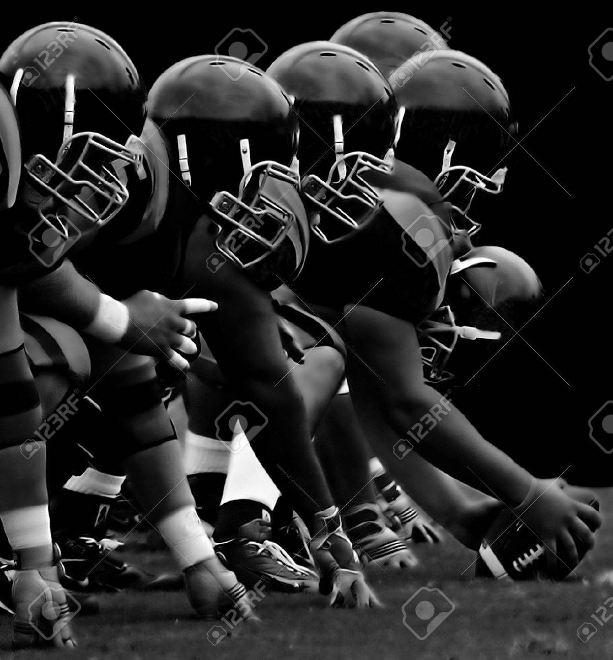 Impressive Image of the forward Line in American Football Stock Photo - 11273986