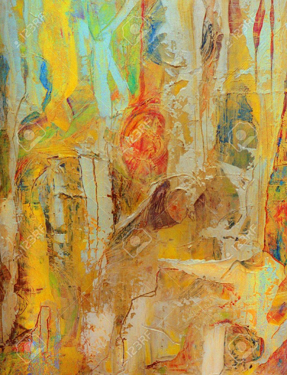 Nice Image Of An Original Abstract Oil Painting On Canvas Stock ...
