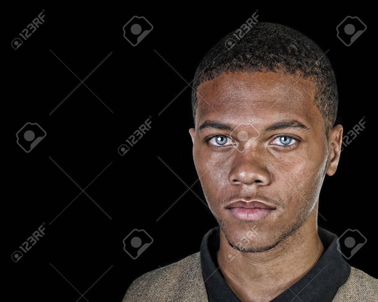very Nice attractive portrait of a afro american man Stock Photo - 12920998