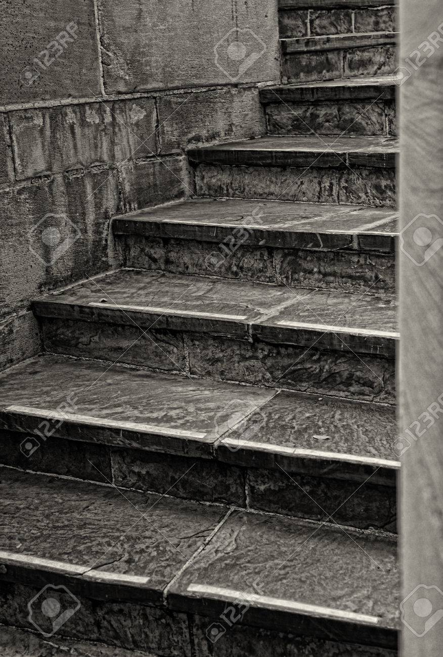 Nice Image Of A Stone And Tile Staircase Stock Photo   24380136