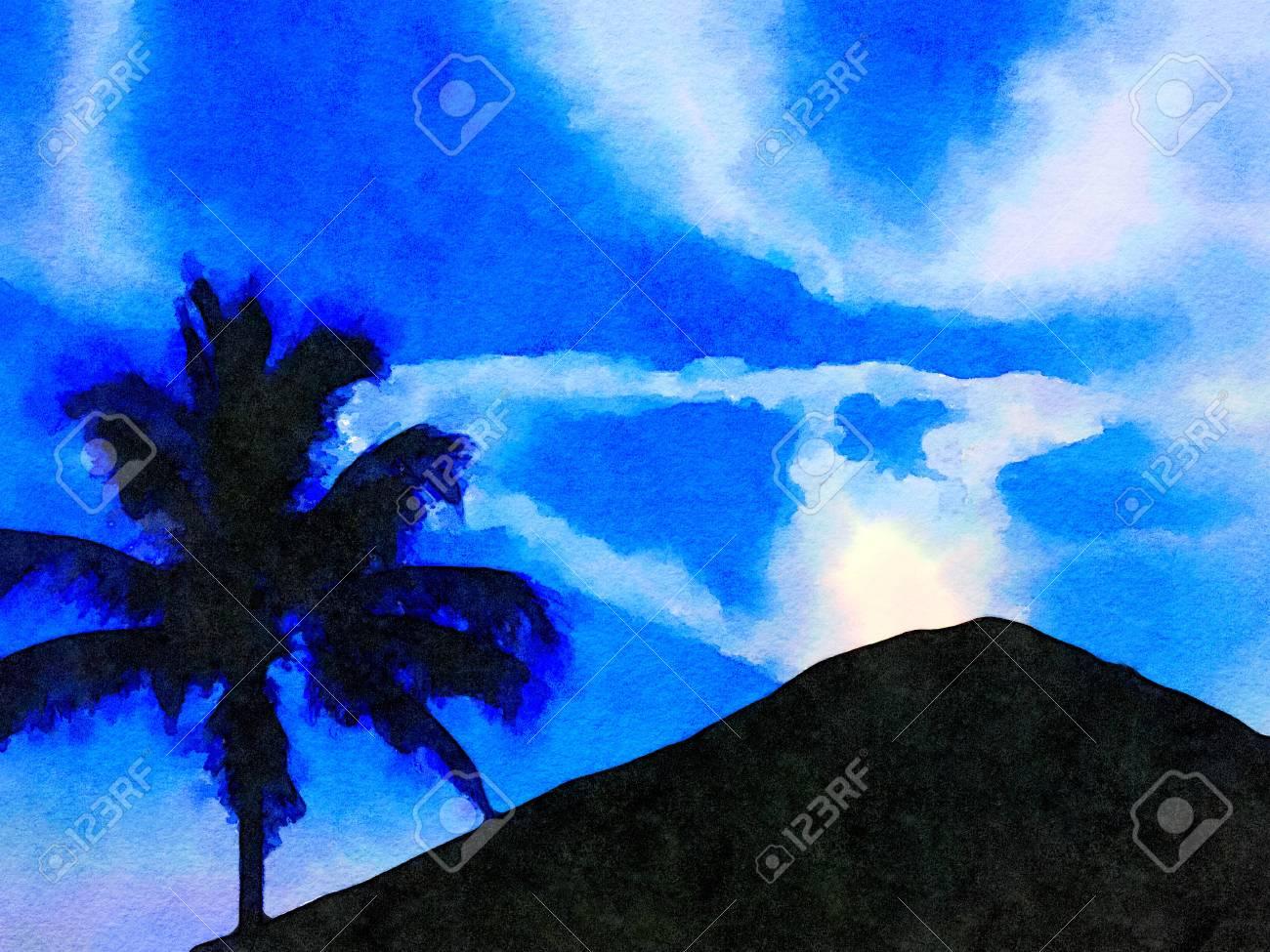 Tres Belle Peinture Du Volcan Sur Hawaii Banque D Images Et Photos Libres De Droits Image 93277346