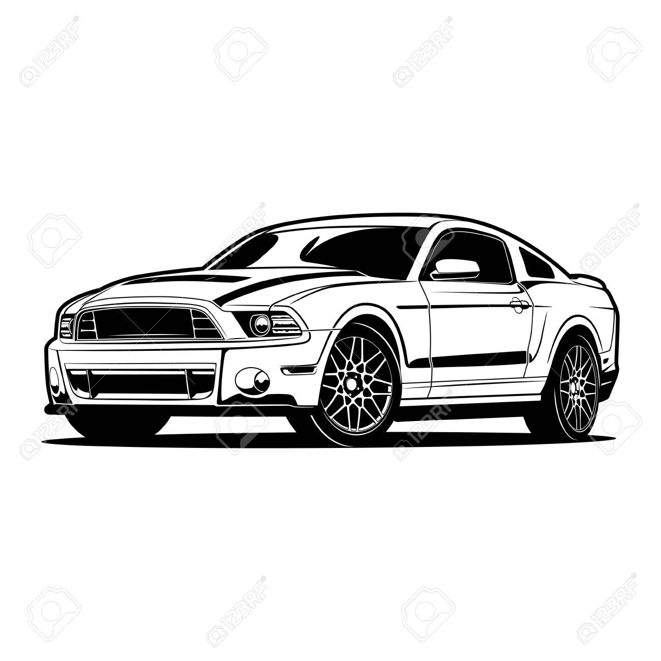 Car vector illustration for conceptual design. - 156952870