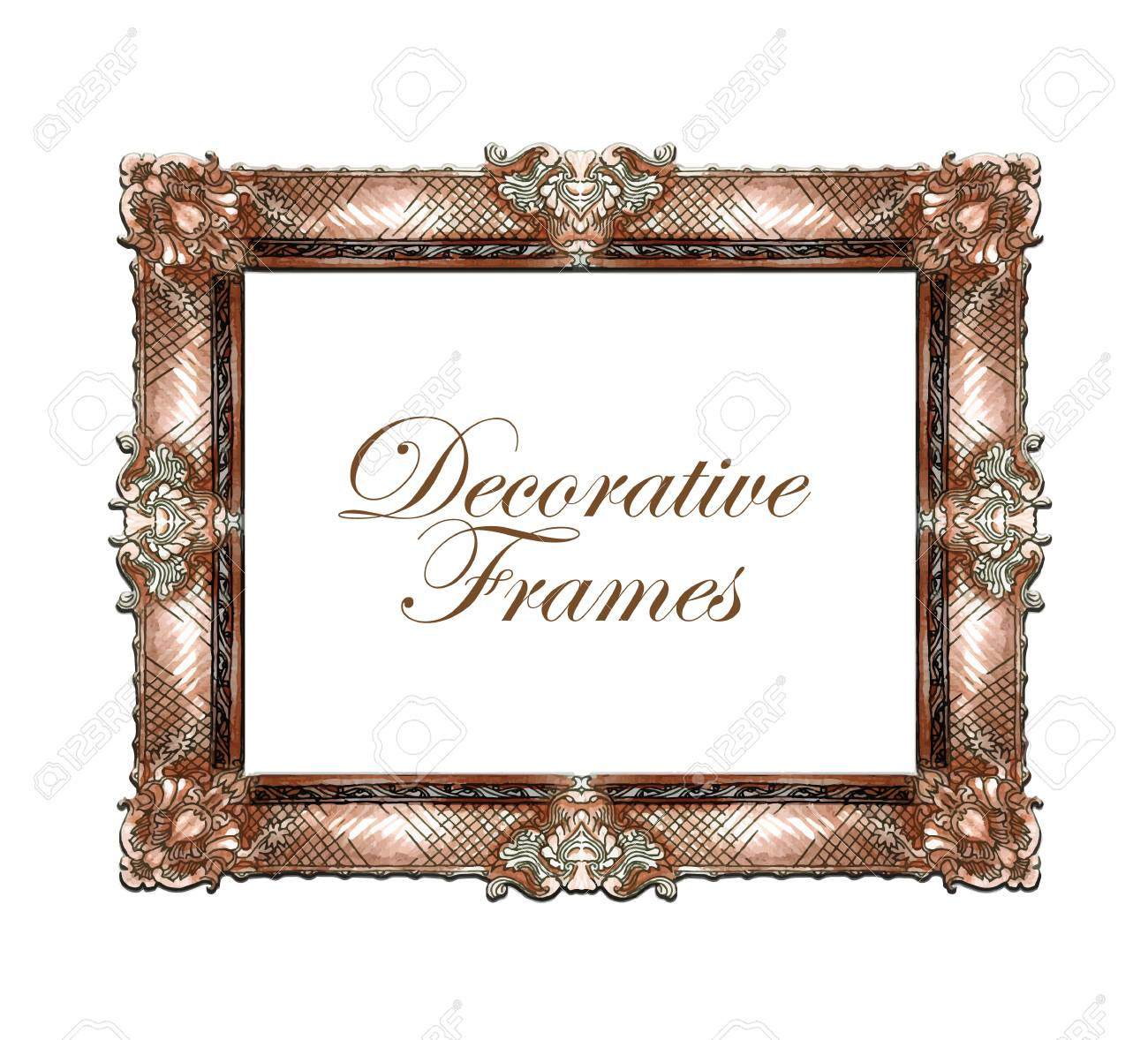 Hand Made Sketch Of Ornate Frames. Vector Illustration. Royalty Free ...