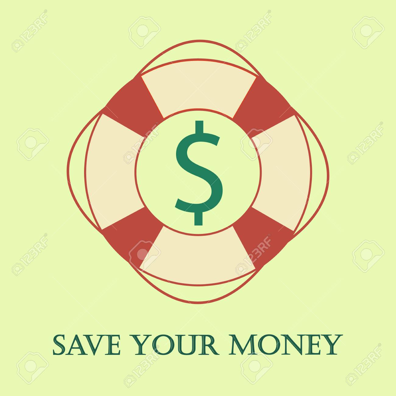 Safety ring with dollar inside  Metaphor of save your money idea