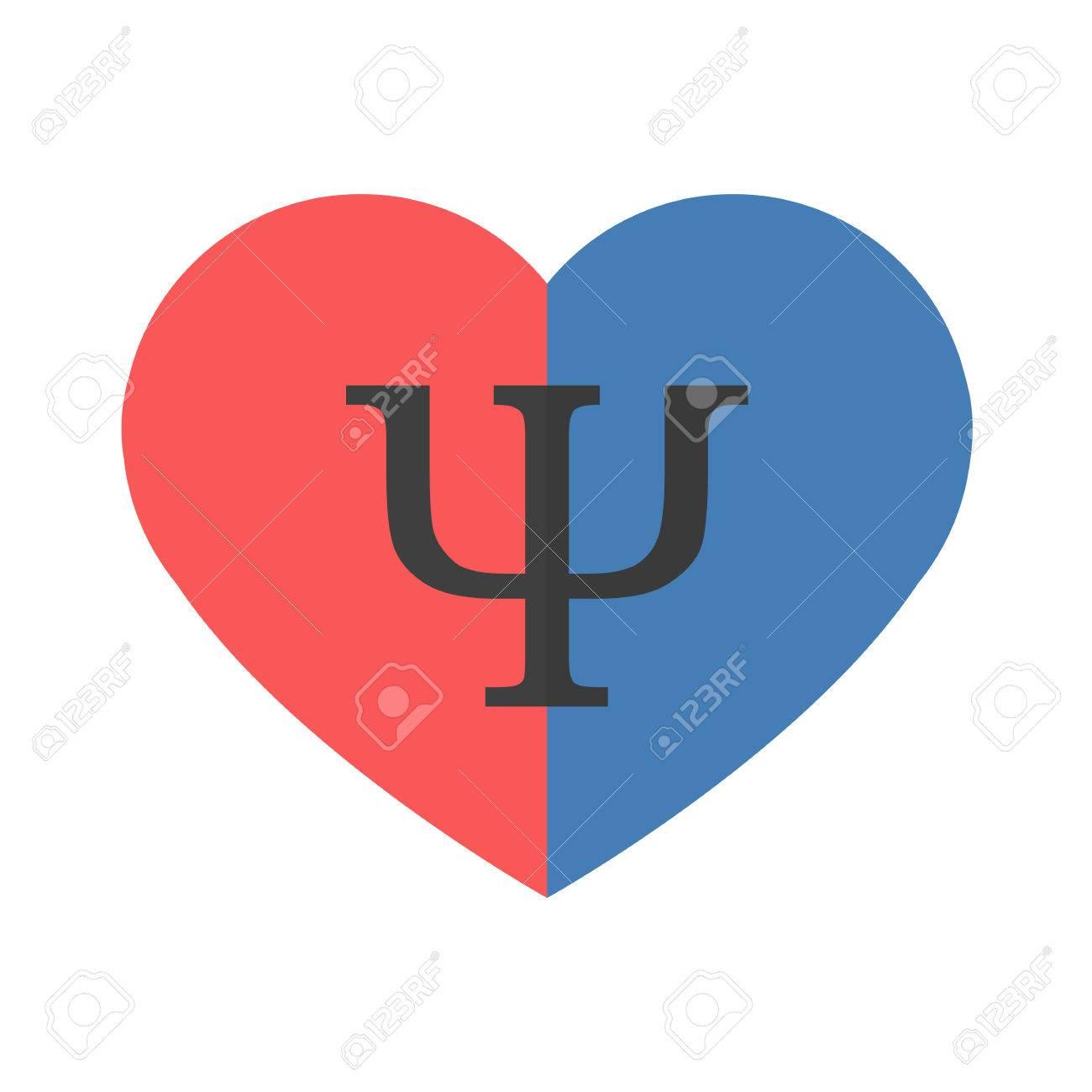 Psicología De Las Relaciones Símbolo De Corazón Con Partes ...