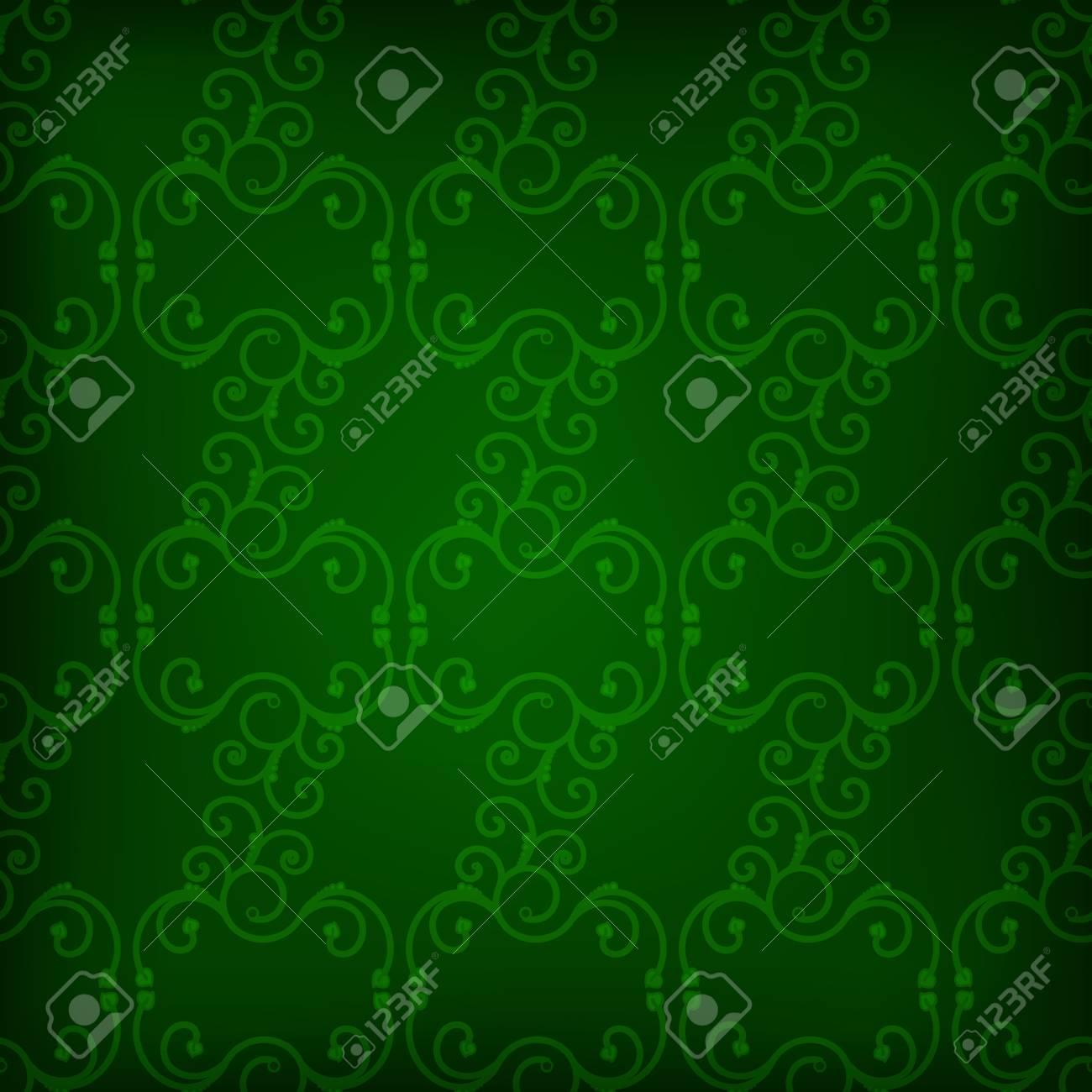 54052132 abstrakte nahtlose dunkelgr%C3%BCne tapete mit strudeln - Dunkelgrune Tapete