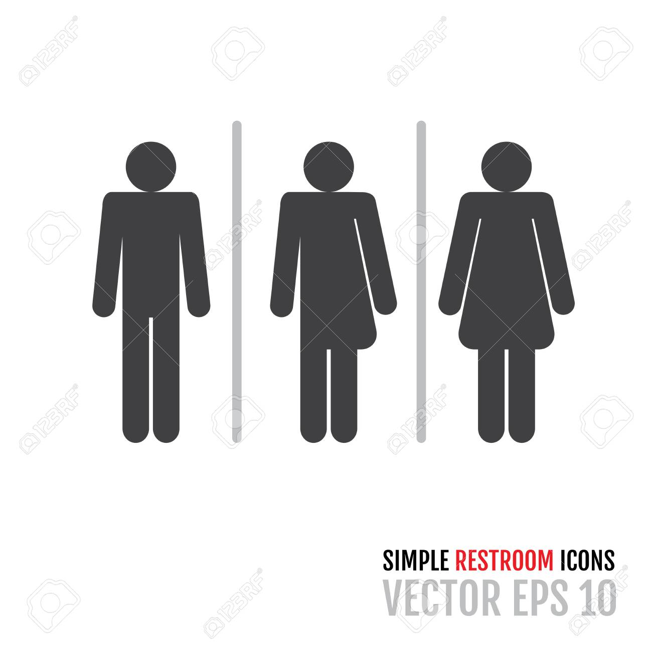 set of traditional restroom icons including gender neutral icon royalty free cliparts vectors and stock illustration image 130020957 set of traditional restroom icons including gender neutral icon