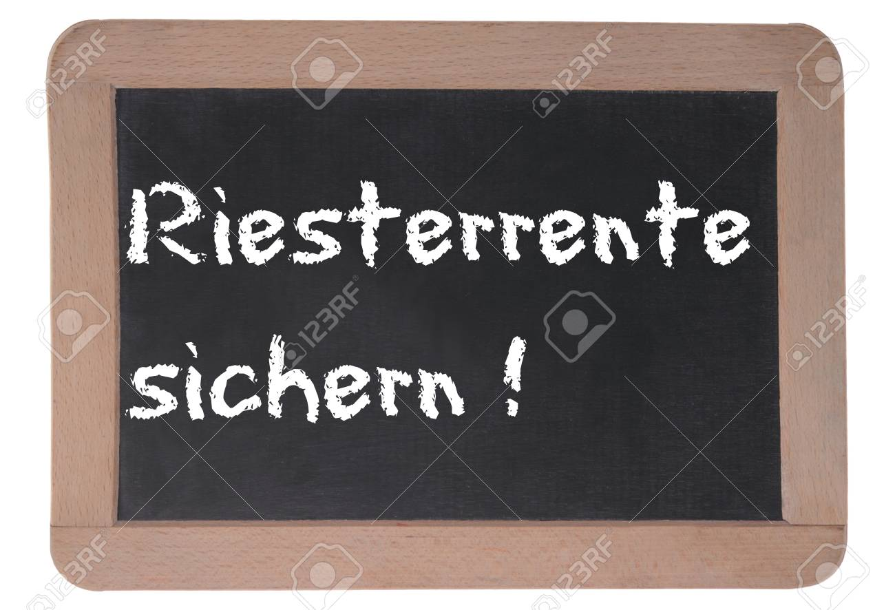 Bord with chalk writing for german pension Stock Photo - 13475990
