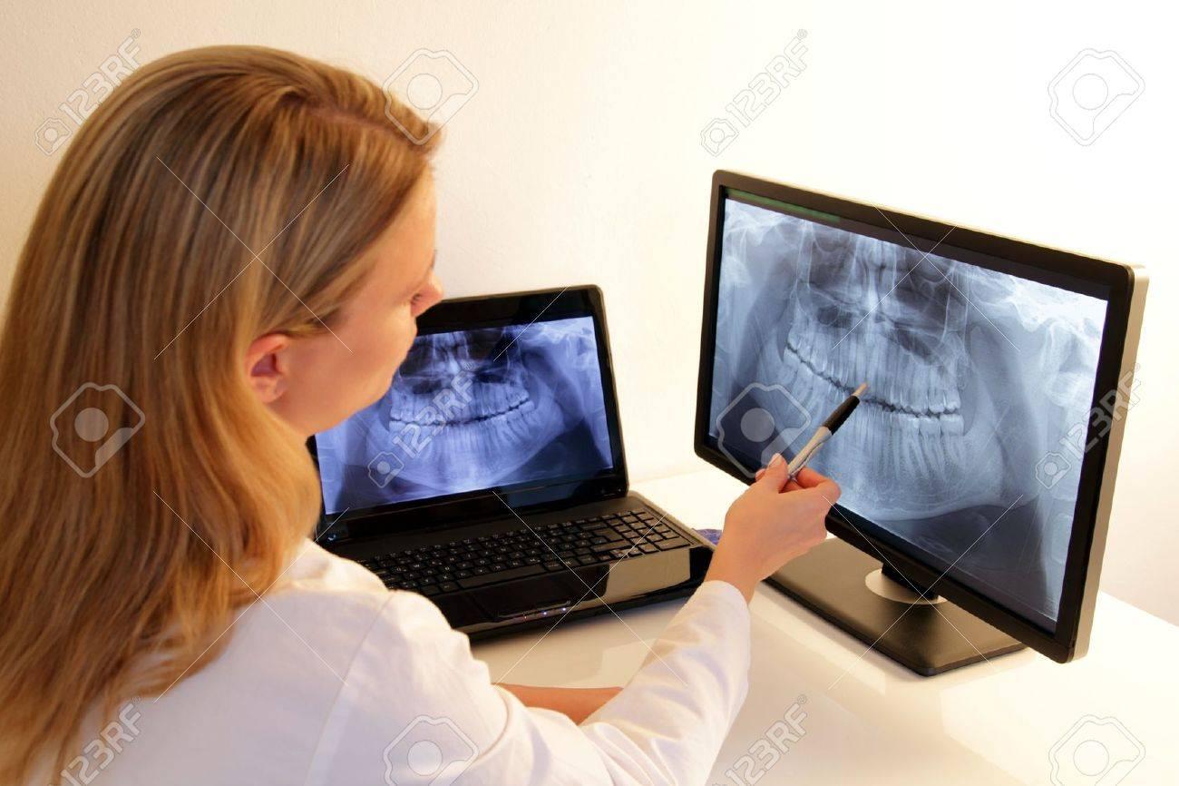 Dentistry explains a dental X-Ray - 15045159