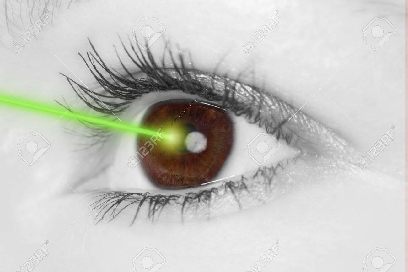 Eye with laser beam - 17890879