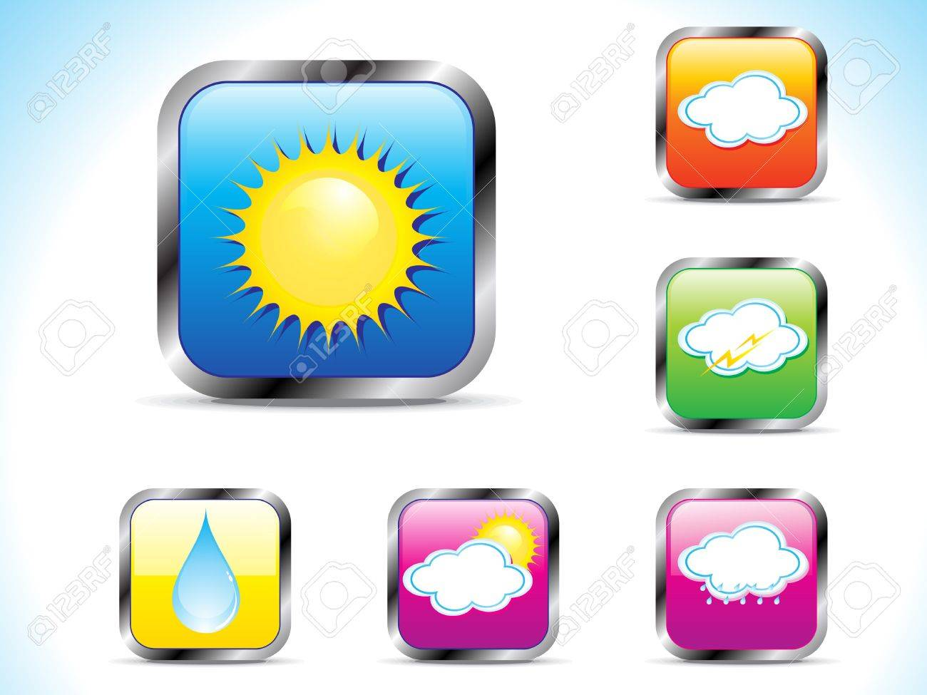 abstract weather button icon vector illustration Stock Vector - 10276274