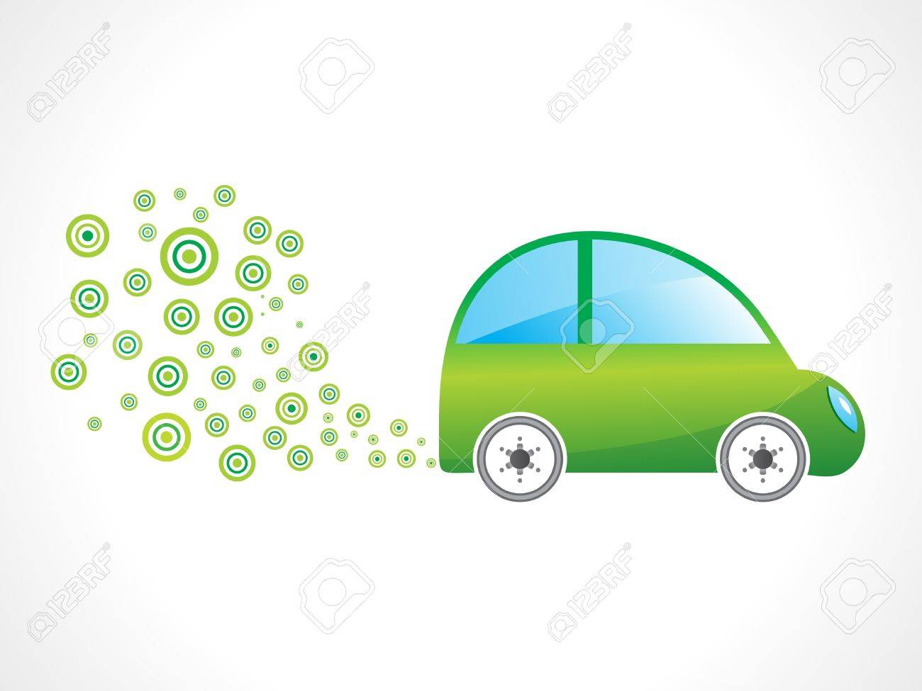 abstract eco car vector illustration Stock Vector - 10276378