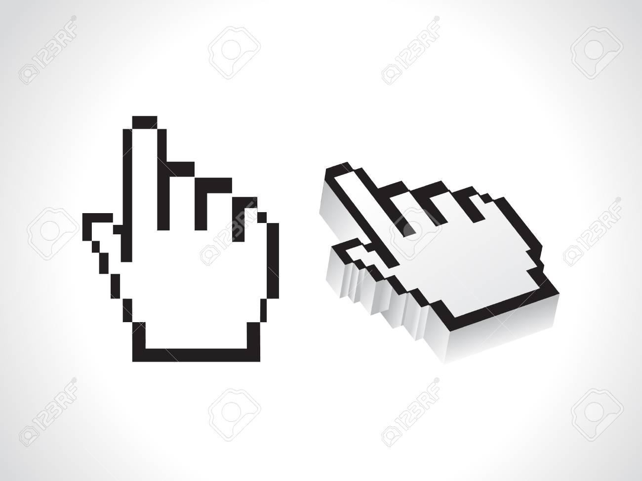 abstract hand cursor vector illustration Stock Illustration - 11587577