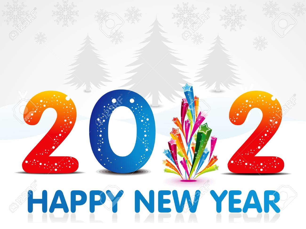 abstract new year background vector illustration Stock Vector - 11587609