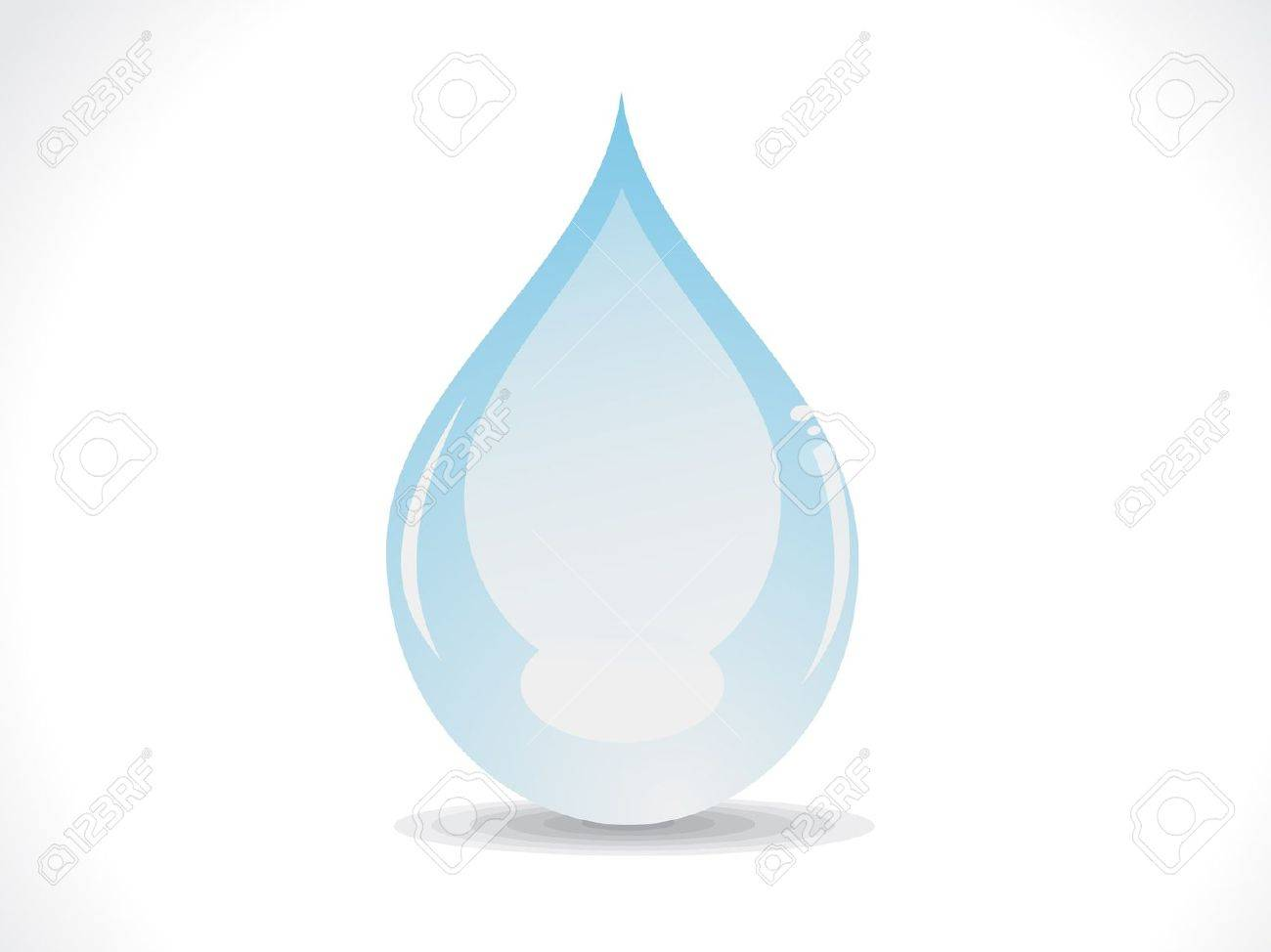 abstract glossy water drop vector illustration - 11864568