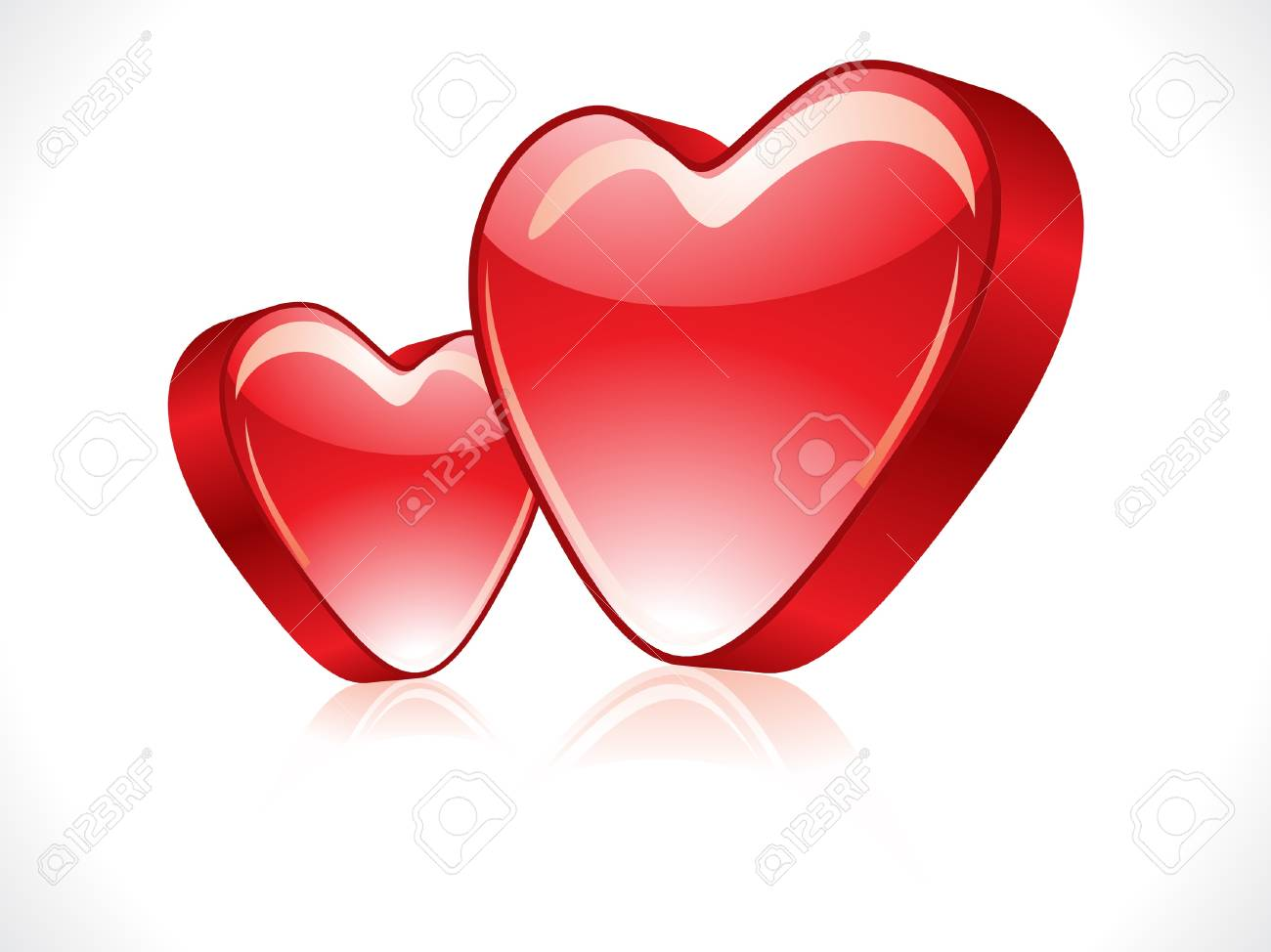 abstract red glossy heart vector illustration Stock Vector - 12495708
