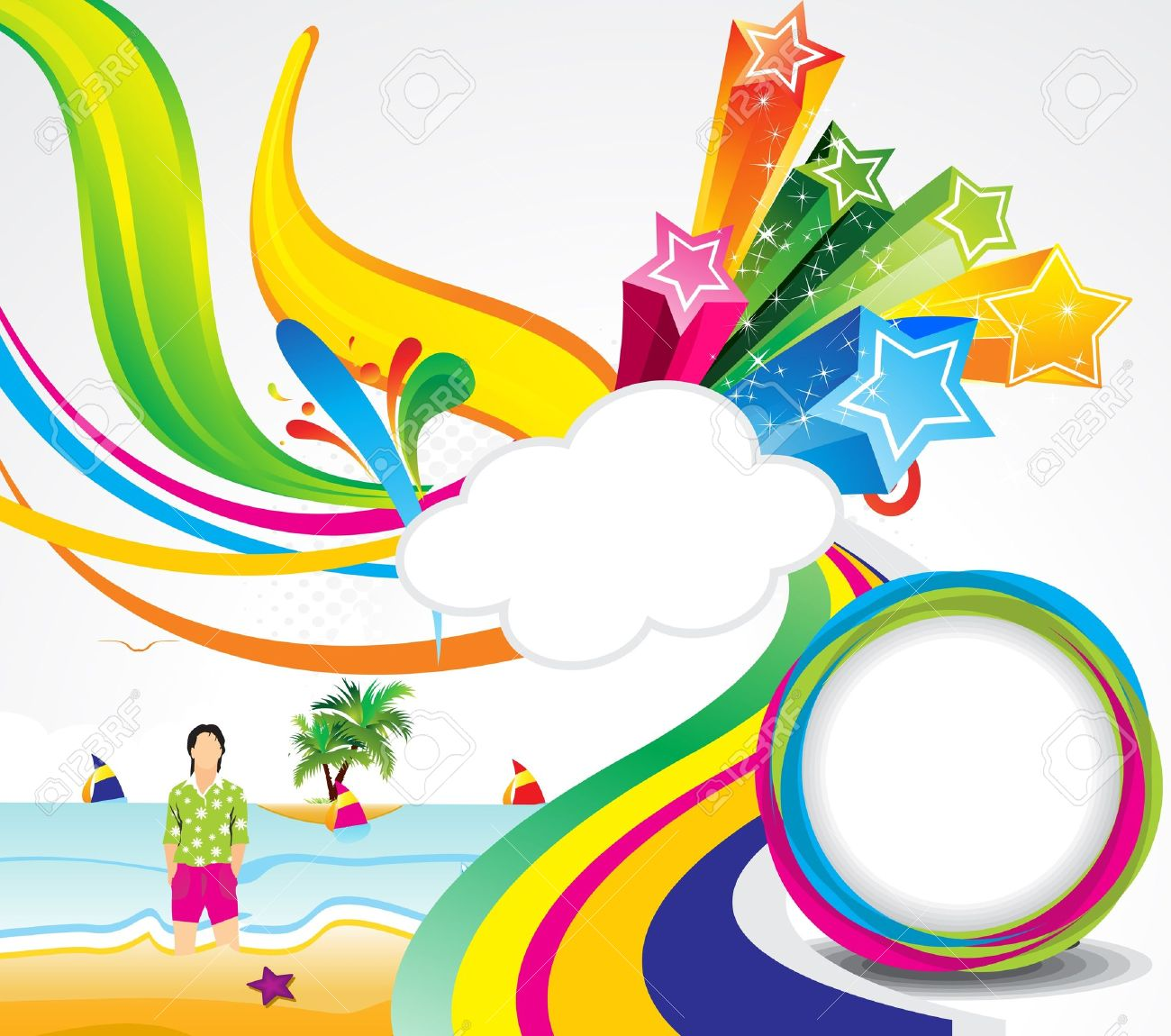 Abstract Colorful Summer Background Vector Illustration Stock