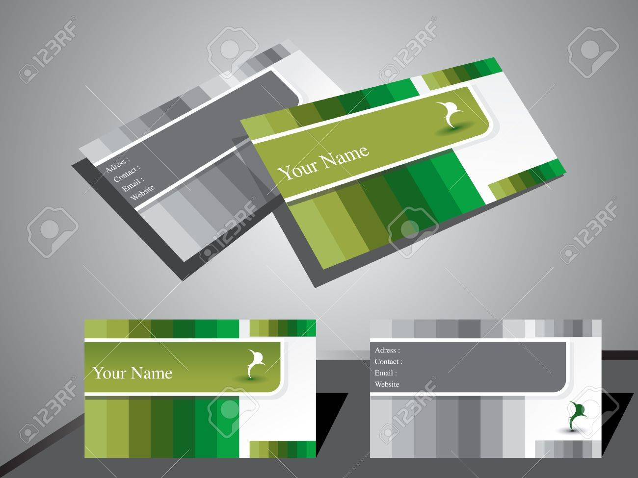 abstract classic business card vector illustration Stock Vector - 13419508