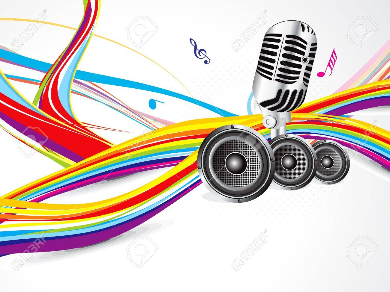 abstract colorful musical background vector illustration Stock Vector - 13608959