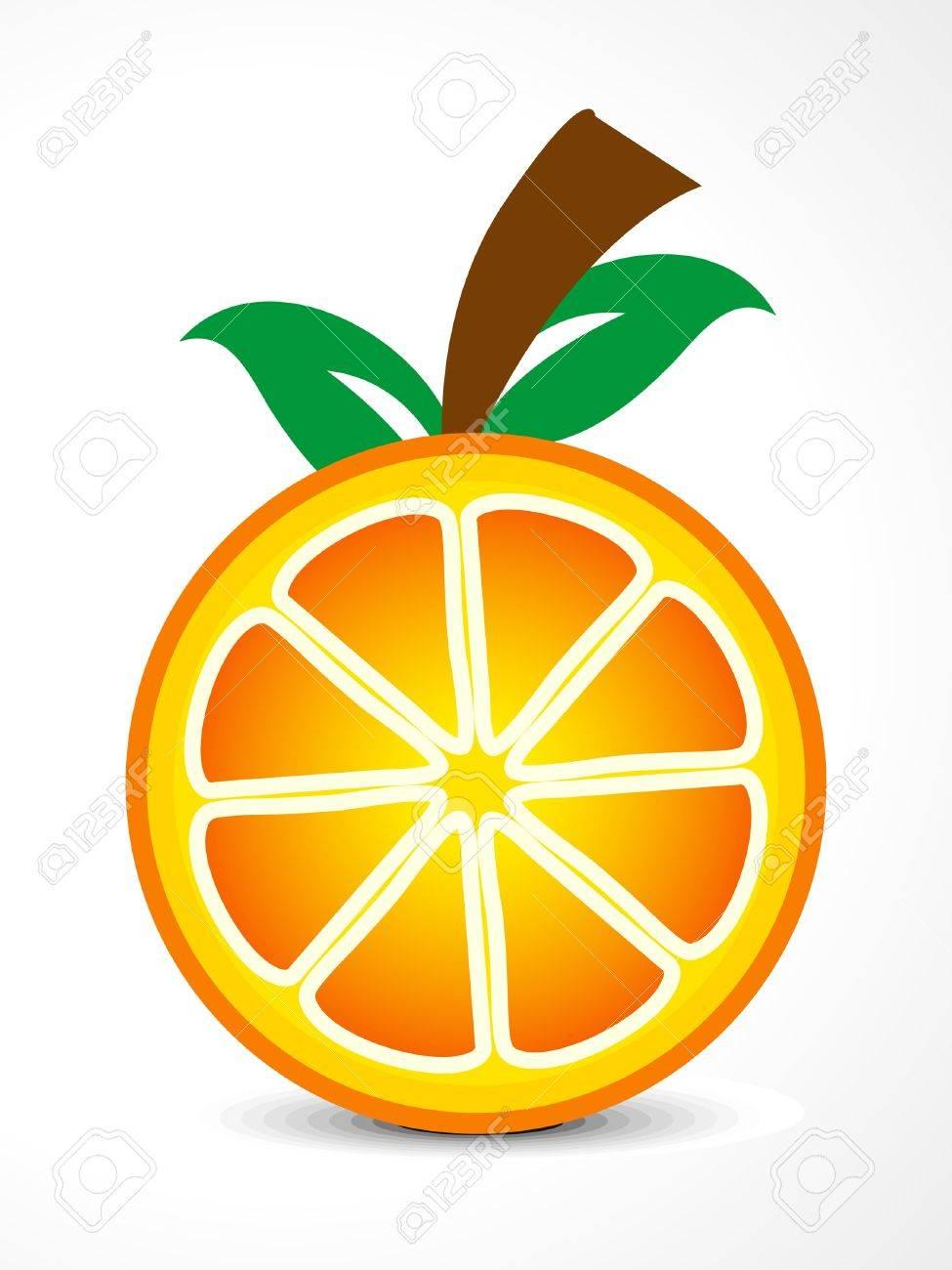 Abstract Orange Fruit