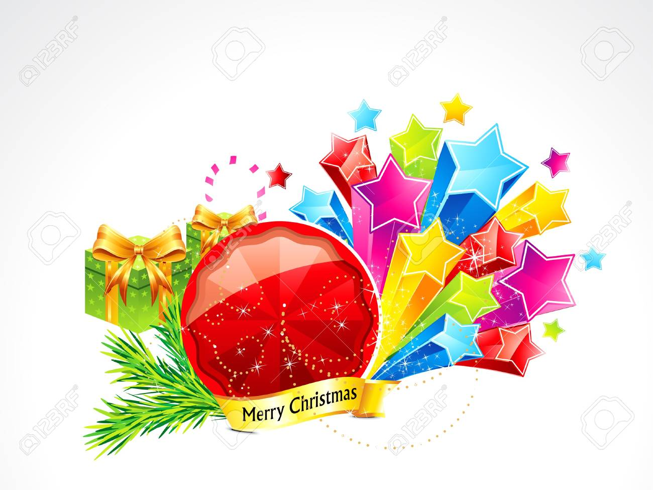 abstract christmas background with stars  illustration Stock Vector - 16477777