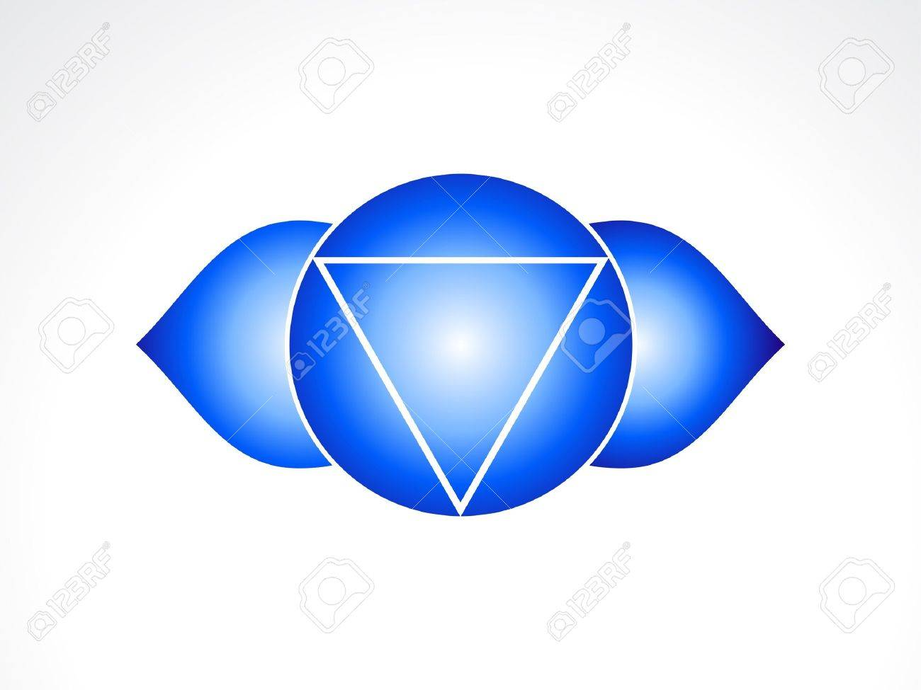 abstract third eye chakra  illustration Stock Vector - 16477776
