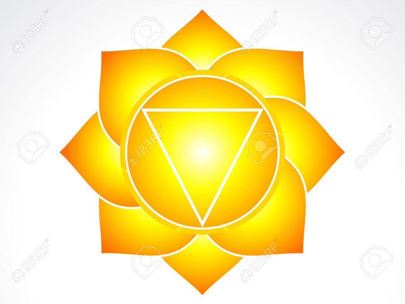 solar plexus chakra  illustration Stock Vector - 16477780