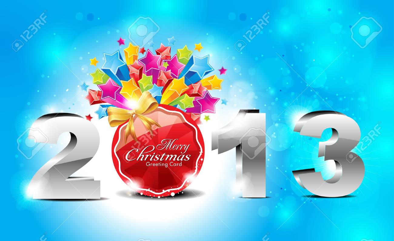 abstract glossy new year  background with explode stars vector illustration Stock Vector - 16724745