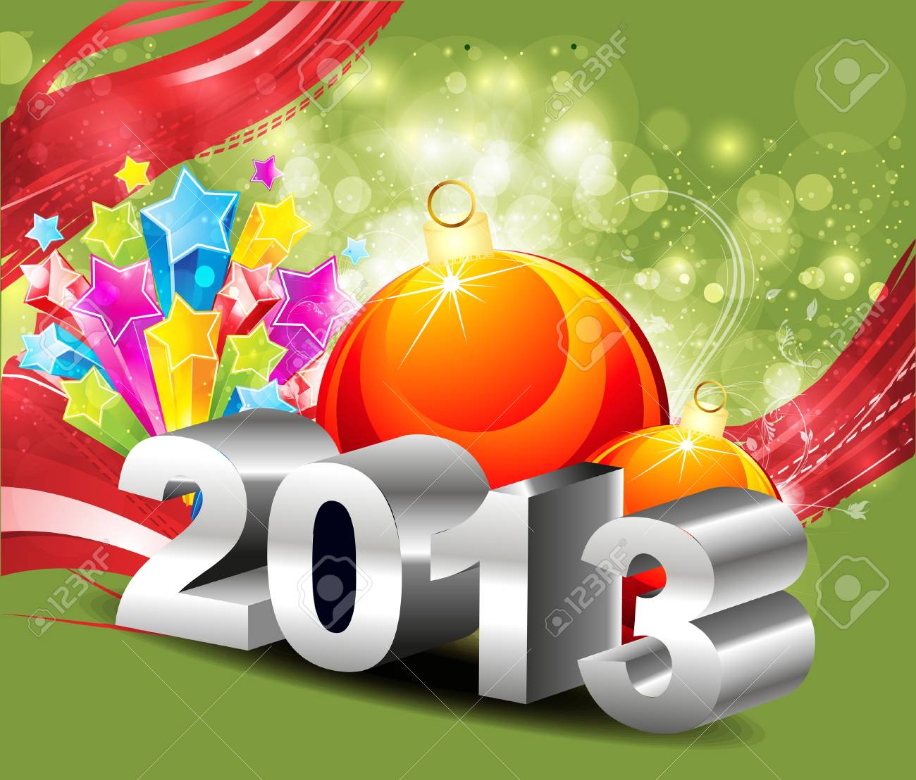 abstract explode new year background vector illustrator Stock Vector - 17030784