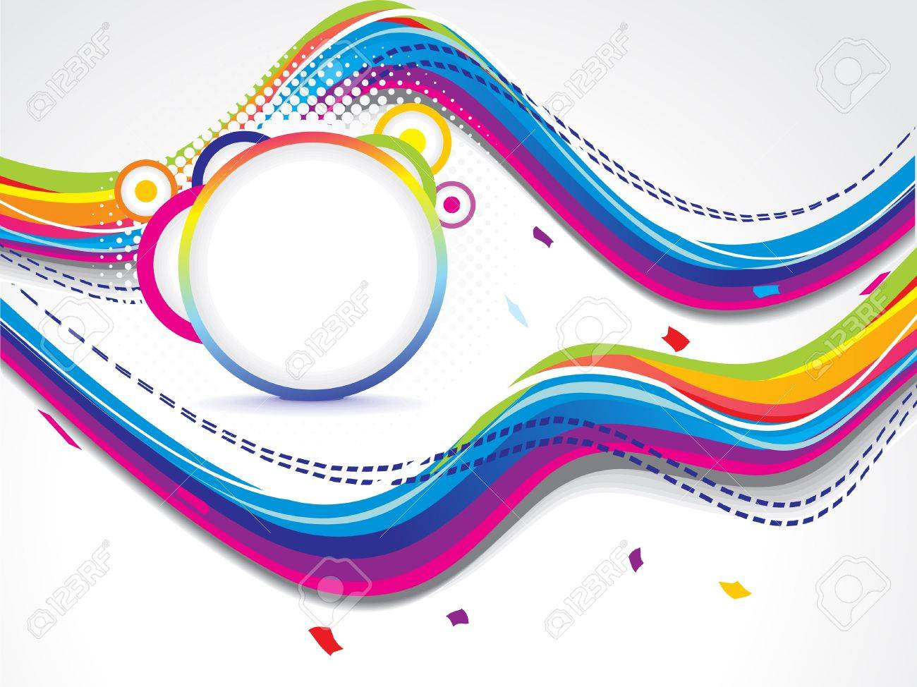 abstract dotted colorfull wave background vector illustration Stock Vector - 17907971