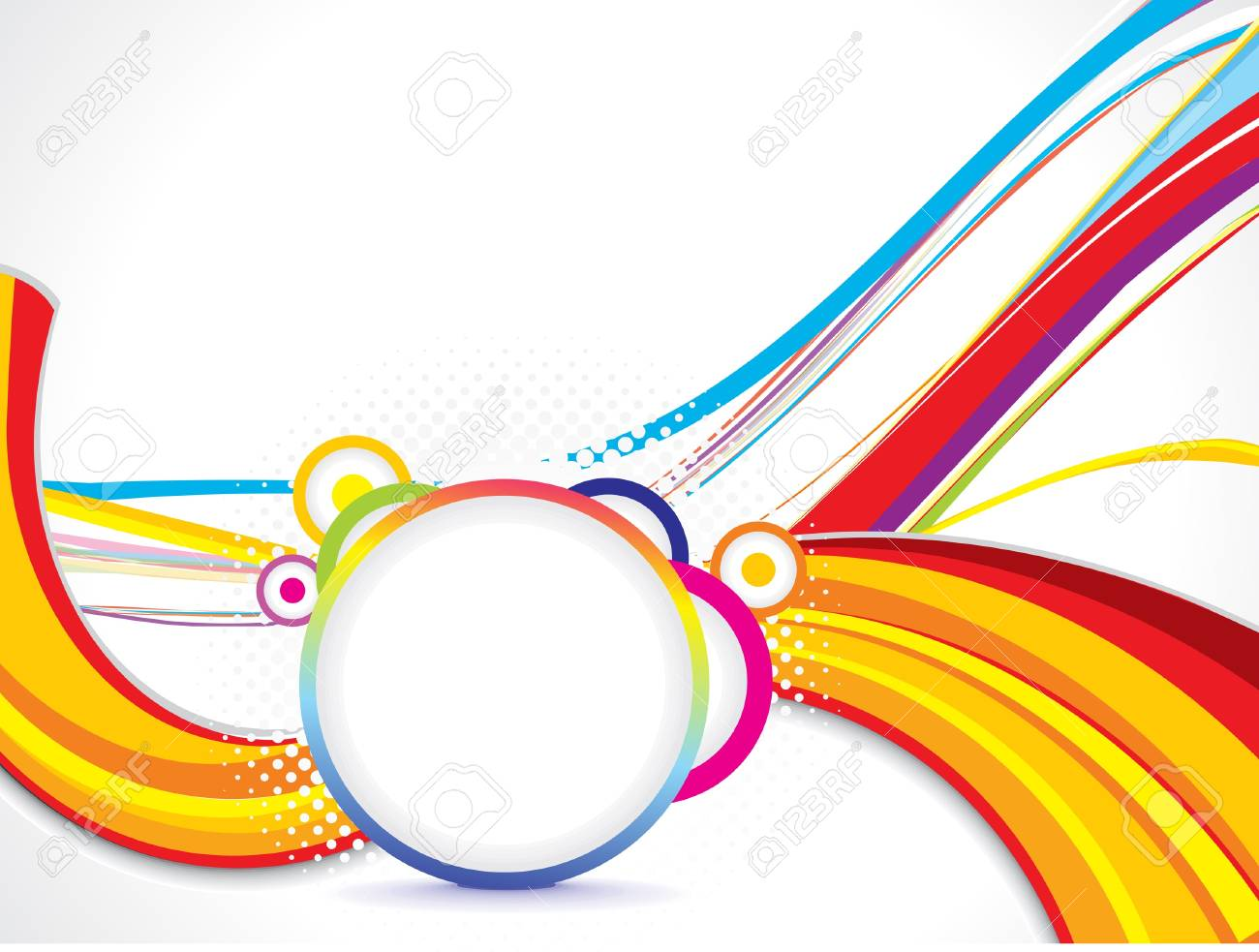 abstract wave background with cirlce vector illustration Stock Vector - 17907967