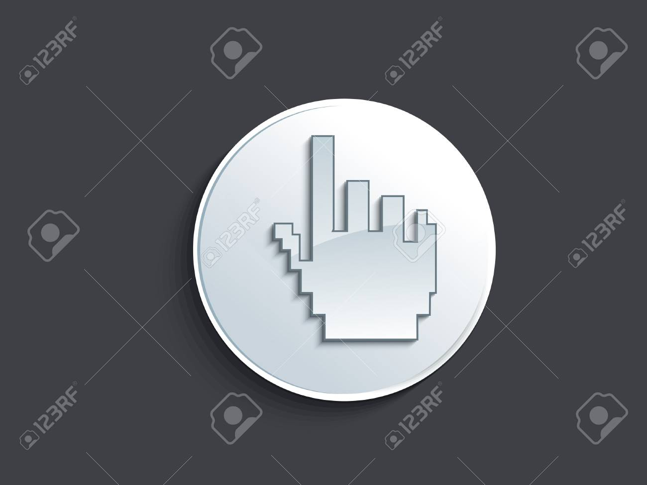abstract glossy hand cursor button  illustration Stock Vector - 19757614