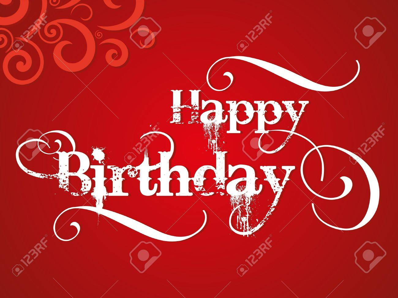 abstract happy birthday card with grunge vector illustration Stock Vector - 20223046