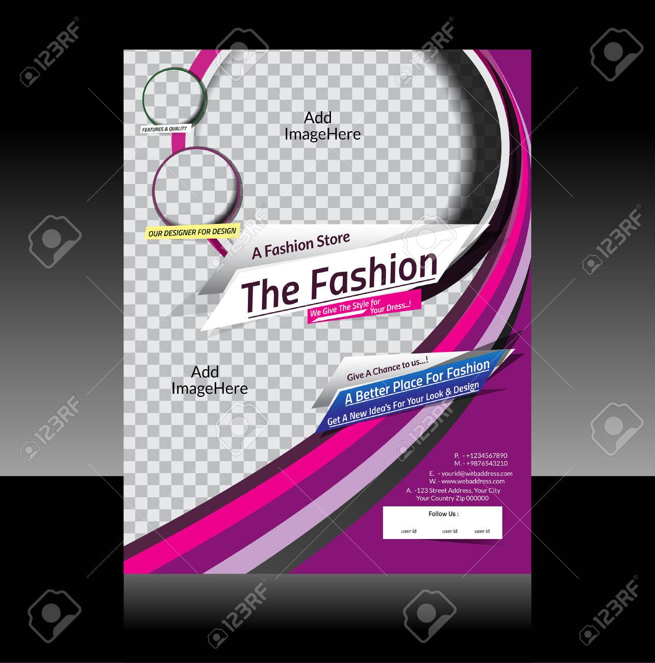fashion flyer design vector illustration royalty free cliparts