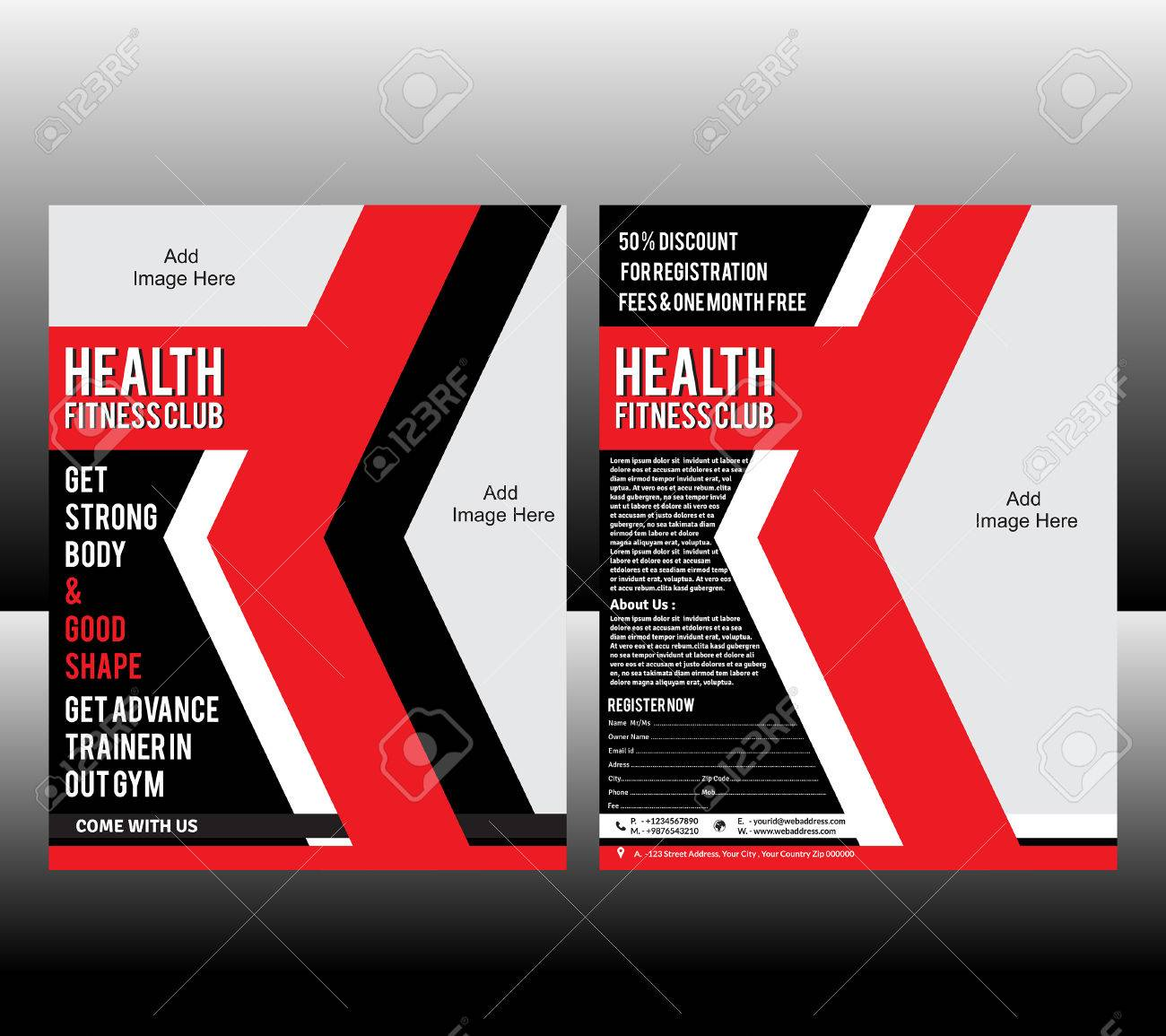 Fitness Flyer Template Vector Illustration Stock Vector   26056159