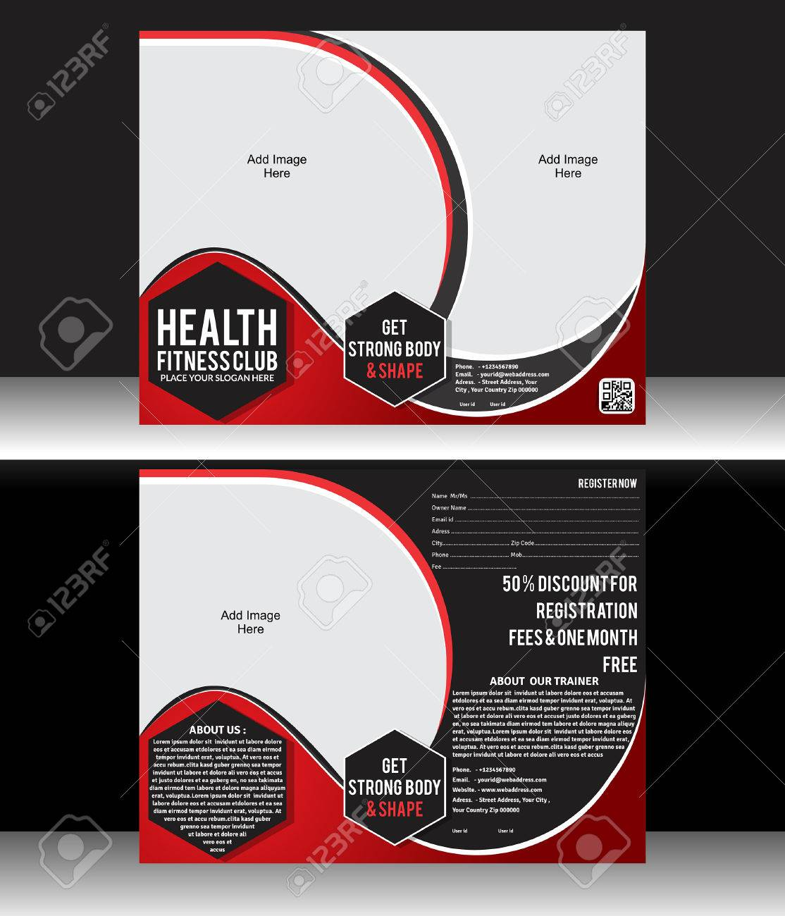 take one flyer template